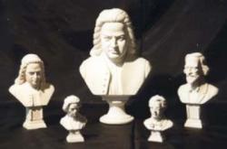 Beethoven - 24 cm Alabaster natur