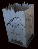 """Design Feuerkorb """"Angeln/Fisch"""""""